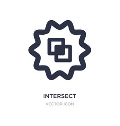 Intersect icon on white background simple element vector