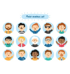 Male avatars vector image