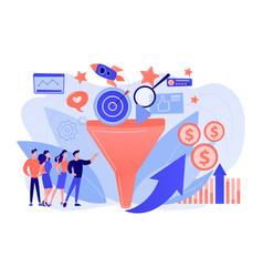 Marketing funnel concept vector