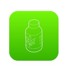 medical marijua bottle icon green vector image