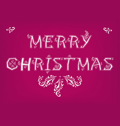 Merry christmas country font vector