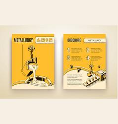 Metallurgy company isometric brochure vector