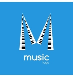 minimalistic music piano logo Music trendy vector image