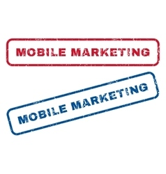 Mobile Marketing Rubber Stamps vector image