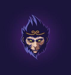 monkey king head vector image