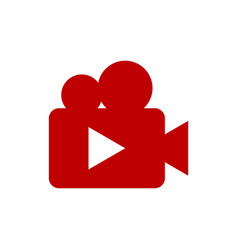 movie camera icon movie camera symbol design vector image