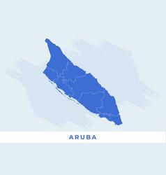 National map aruba aruba map vector
