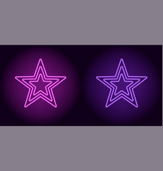 Neon purple and violet star vector