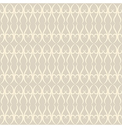 Neutral floral ornament beige color vector image