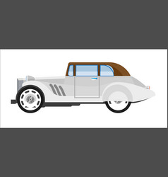 old gray colored elegant car vector image