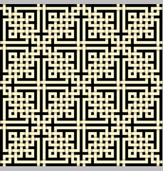 Paper cut seamless pattern in celtic knot style vector