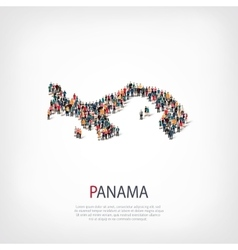 People map country Panama vector