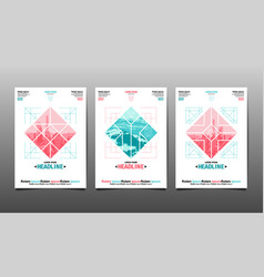 Poster design template abstract background vector