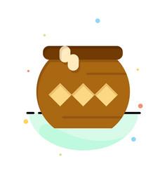 Pot sand water pongal festival business logo vector