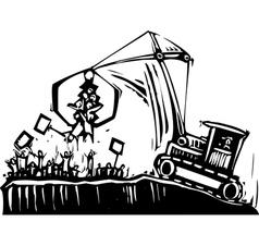 Protest Crane vector