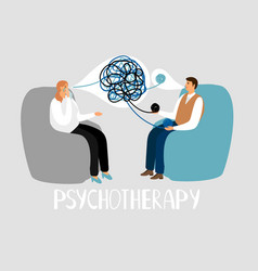 Psychotherapy treatment of mental problems vector