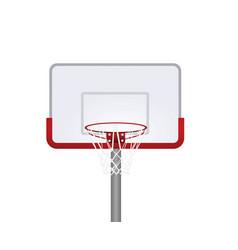 red basketball basket vector image