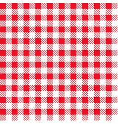 Red checkered fabric vector