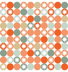 Retro seamless pattern with circles and stars vector