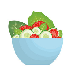 Salad bowl icon vector