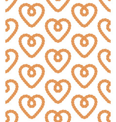 seamless pattern rope in flat style vector image