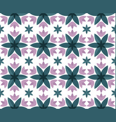 seamless pattern with crocus vector image