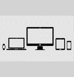 Set of digital devices icons vector