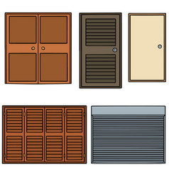 set of door vector image