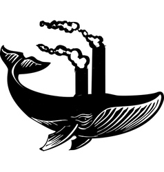 Smokestack Whale vector image