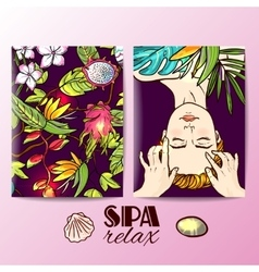 Spa massage her face vector