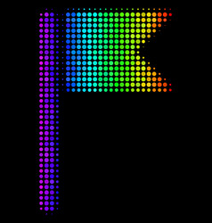 Spectrum dotted flag icon vector