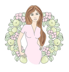 Spring portrait color vector