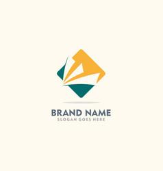 Square abstract loop company logo vector