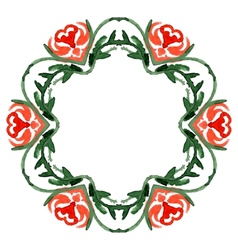 Stylish floral card vector