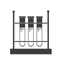 Test tube rack laboratory chemistry equipment vector