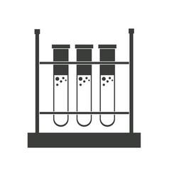 test tube rack laboratory chemistry equipment vector image