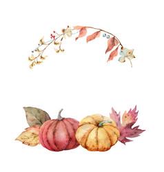 thanksgiving wreath colorful pumpkins vector image