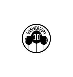 Thirty year anniversary badge vector