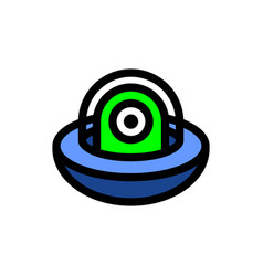 Ufo alien cartoon icon vector