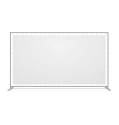 White blank advertising press wall with fabric vector