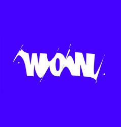 wow banner poster and sticker concept vector image