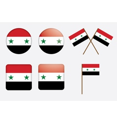 badges with flag of Syria vector image vector image