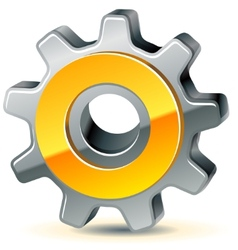 gear as preferences icon vector image vector image