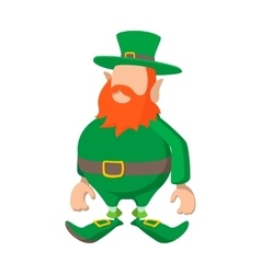 Leprechaun cartoon icon vector image