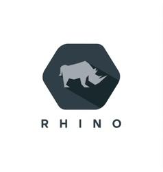 Rhino animal logo of a modern style vector