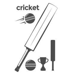 set of cricket design elements vector image vector image
