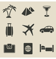 Travel icon set - vector image