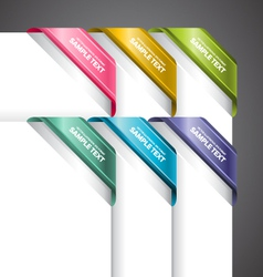 Bookmark Labels Corner vector image vector image