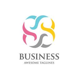 consuting logo design vector image vector image