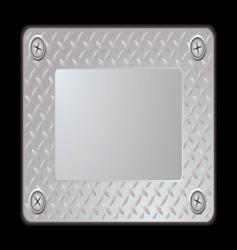 metal sign vector image vector image